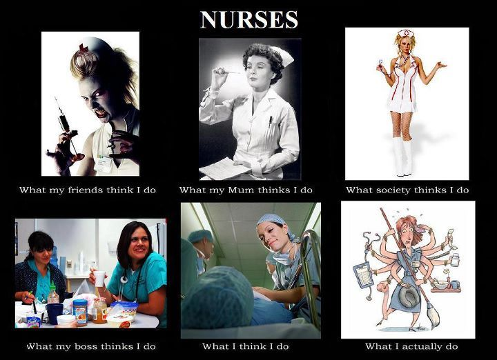 Nurses, isn't this the truth? I love how all my non-nurse friends call me to gripe about how bad their nurses were! Like I'm responsible!