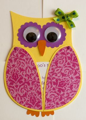 owl invitations. Something like this might be cute, and easy enough to make
