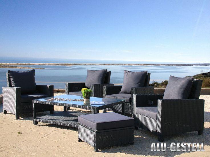 Die besten 25+ Gartenmöbel lounge set Ideen auf Pinterest - gartenmobel set alu 7 teilig