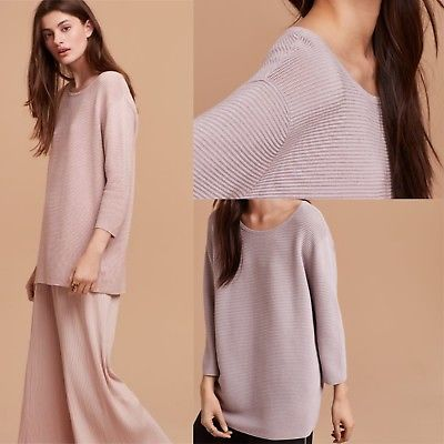 Aritzia-Wilfred-Blanchard-Sweater-Lilac-Fog-Ribbed-Relaxed-Fit-Sold-Out-Color-M