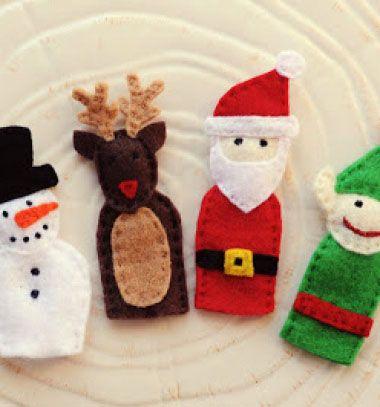 Ujjbábok filcből (Télapó, rénszarvas, manó, karácsonyfa, hóember) / Mindy -  kreatív ötletek és dekorációk minden napra