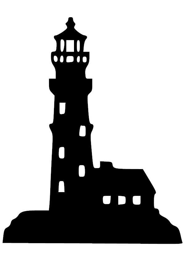 Light House 2 Vinyl Decal Silhouette Clip Art