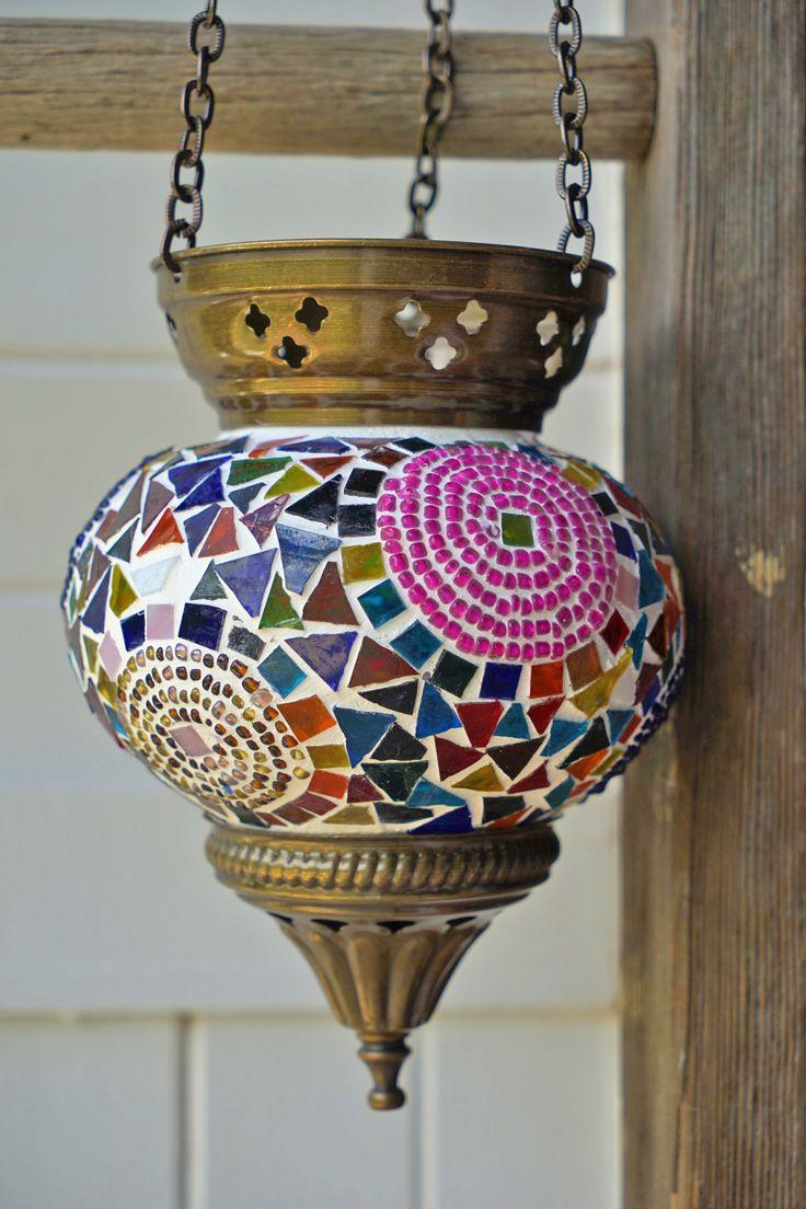 Hanging Turkish Mosaic Candle Holders Circle