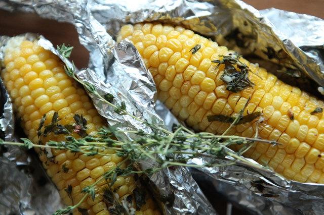 Запеченная кукуруза