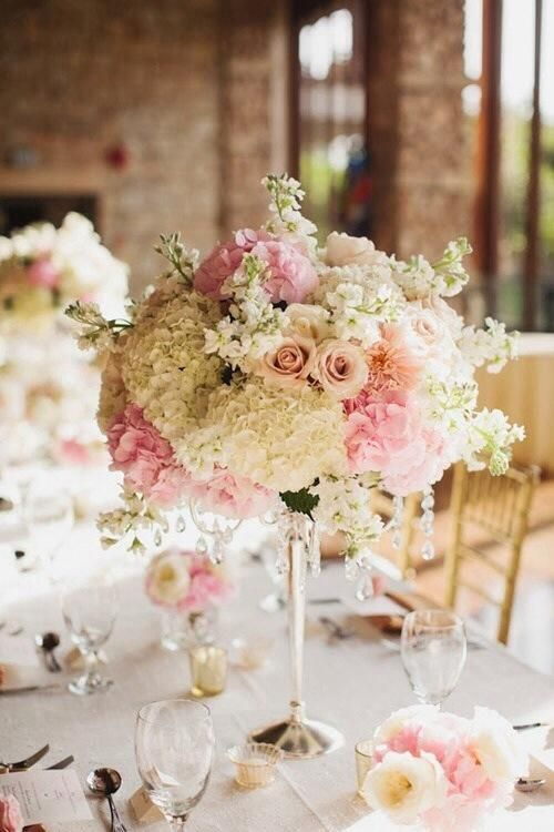 Romantic floral centerpiece