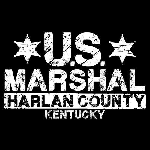 U.S. MARSHAL - HARLAN COUNTY, KY - JUSTIFIED T-SHIRT