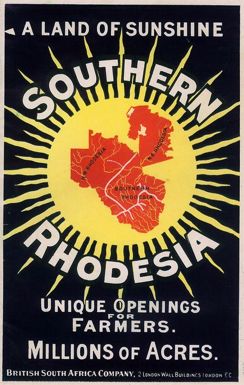 british south africa company poster, circa 1909