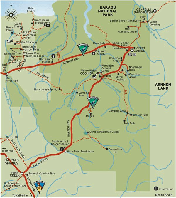 Kakadu National Park - map