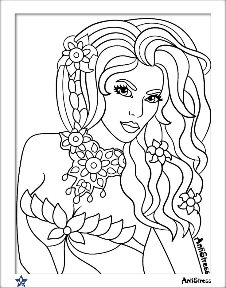870 best Beautiful Women Coloring Pages for Adults images