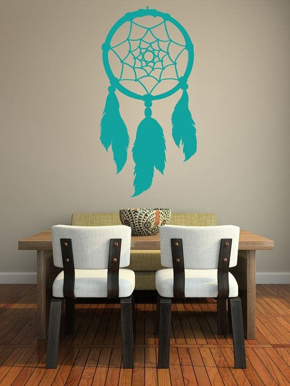 Wall Decal Dream Catcher Native American Feathers Web Indian on Etsy, $60.00