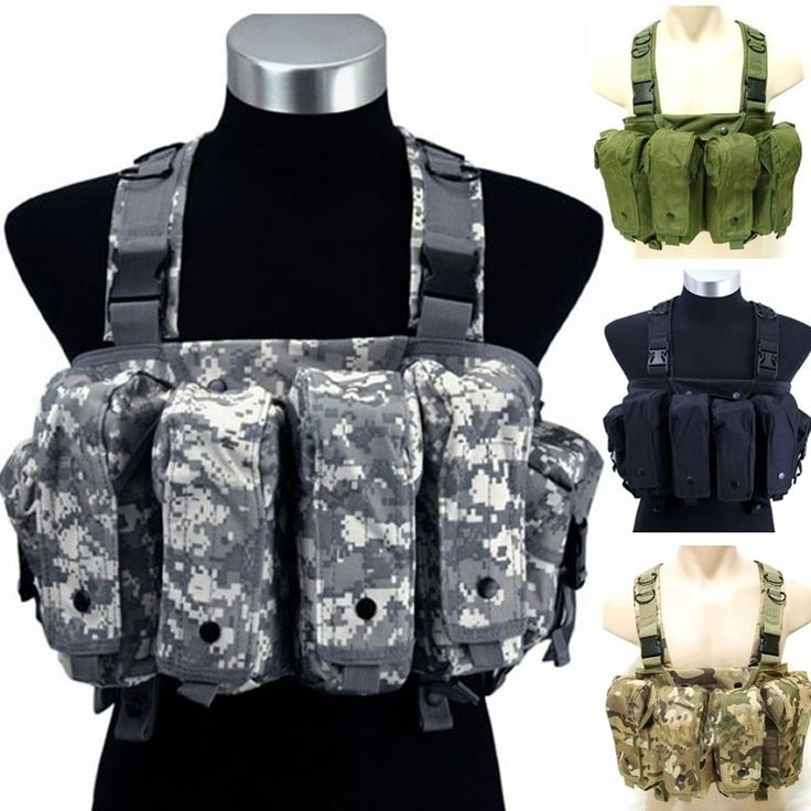 24.92$  Buy here - http://alirp0.shopchina.info/1/go.php?t=32657947546 - Military Camouflage Tactical Vest  Airsoft  Ammo Chest Rig AK 47 Magazine Carrier Combat  #aliexpress