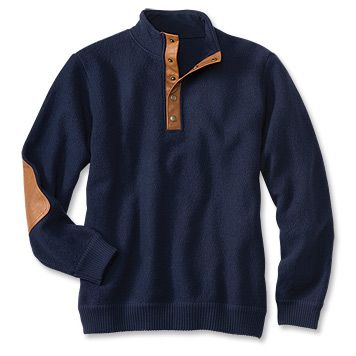 Boiled Wool Snap-Front Pullover- Navy - Small-$159