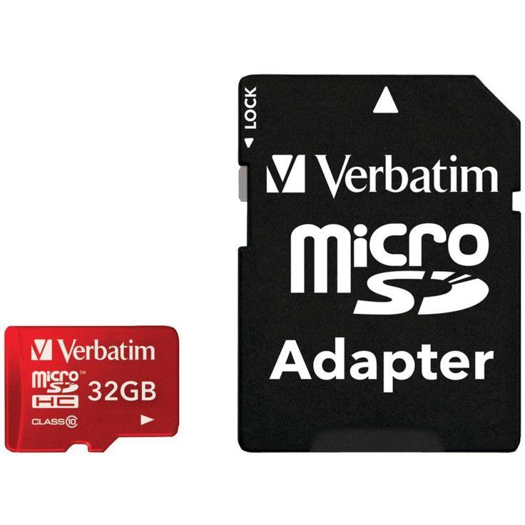 Verbatim Class 10 Uhs-1 Tablet Microsdhc Card (32gb; Red)