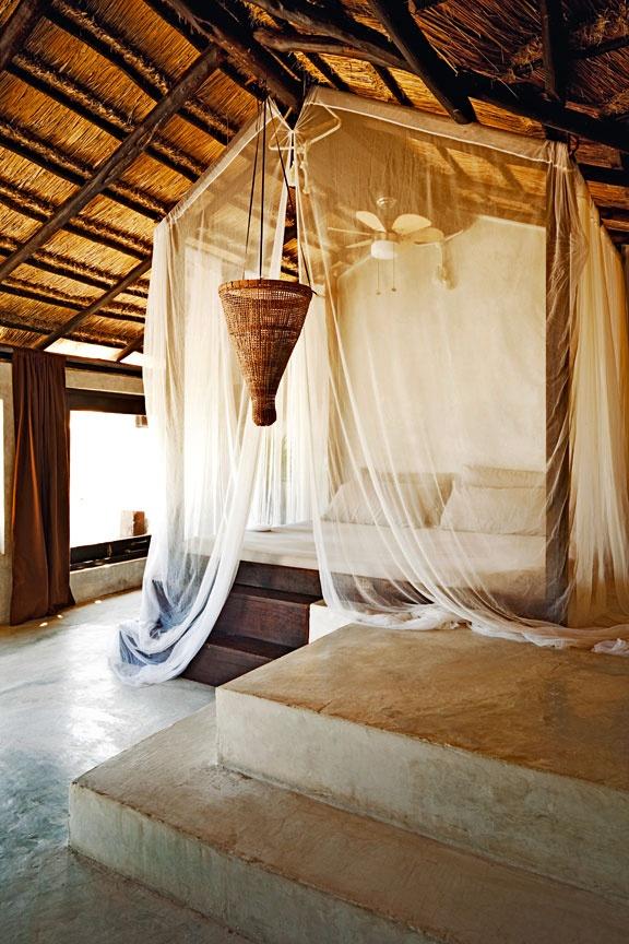 Chambre, hôtel Coqui Coqui, Mexique © Matthieu Salvaing