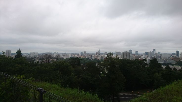 仙台城跡からの景色、仙台市、宮城県 / view from remains of Sendai Castle, Miyagi Prefecture, Japan
