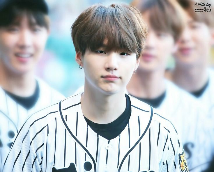 Suga❤ BTS At The Hanshin Tigers vs Nippon Ham Fighters Baseball Game! For the ceremonial first pitch~ (PRESS - 170602) #BTS #방탄소년단