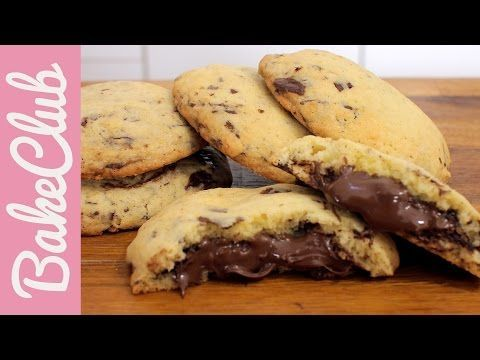 Cookies με σταγόνες σοκολάτας και γέμιση Nutella (Video) | Συνταγές - Sintayes.gr
