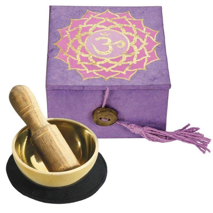 """Mini Meditation Bowl Box: 2"""" Crown Chakra - DZI (Meditation)"""