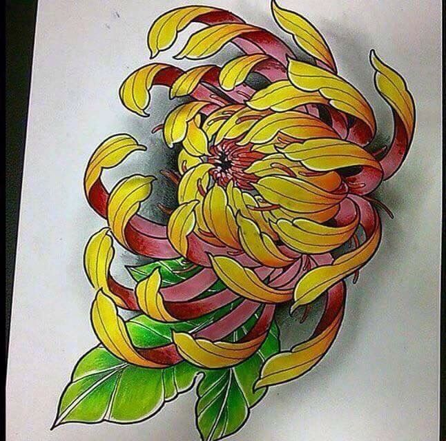 Image result for chrysanthemum tattoo japanese