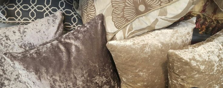 Mauve & Champagne Crushed velvet cushions. Livingroom or Bedroom.