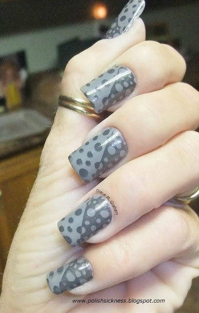 Pure Ice Kiss Me Here China Glaze Concrete Catwalk dot mani