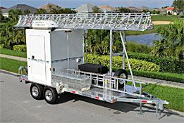 Aluma Tower - Trailer Towers with Shelters - Telescoping Aluminum Towers Mobile Crank-up Towers Portable Vehicle-Mounted Towers