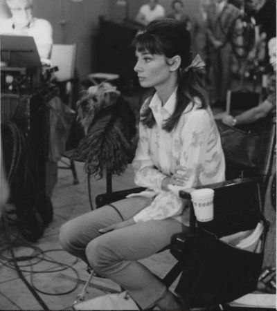 Audrey Hepburn photographed between the sets of My Fair Lady, 1963.