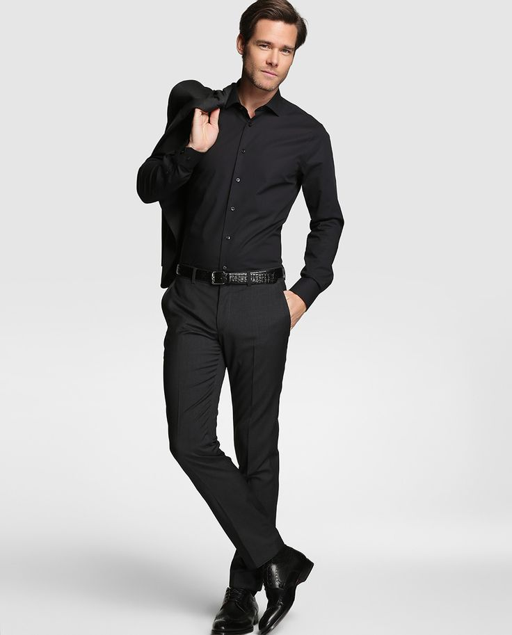 Camisa de hombre Tommy Tailored slim lisa negra · Tommy Tailored · Moda · El Corte Inglés