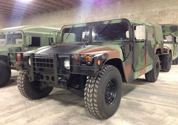Military Hummer for sale humvee hmmwv H1 Utah MRAP Aluminum 24 volt Convoy armored vehicles bobbed duece and a half deuce