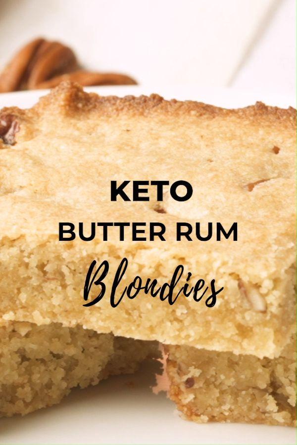 Keto Butter Rum Blondies – Low Carb