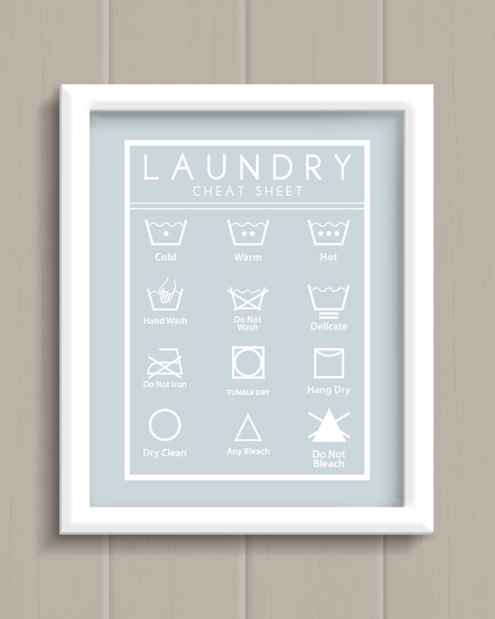 Laundry Room Cheat Sheet Art Print