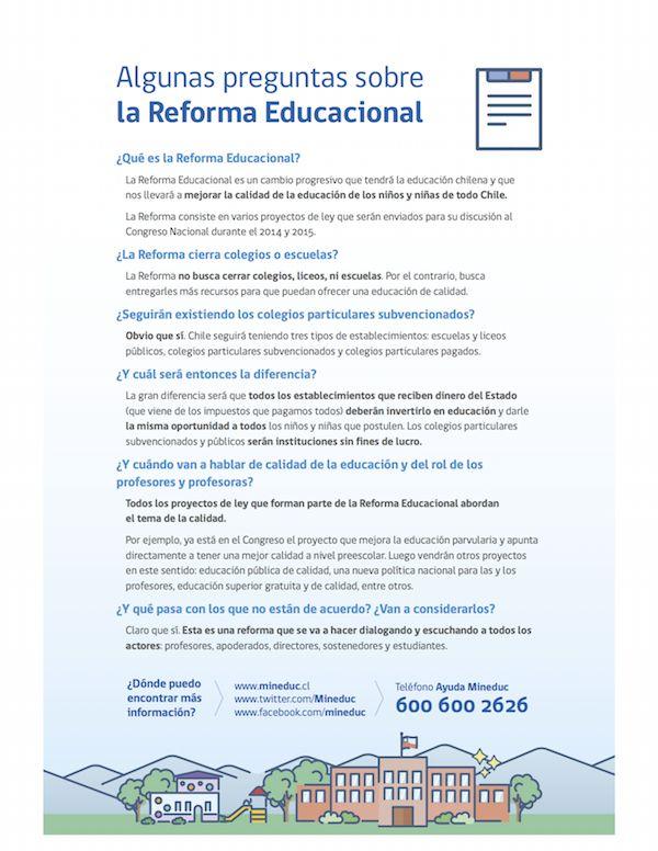 Preguntas sobre la Reforma Educacional
