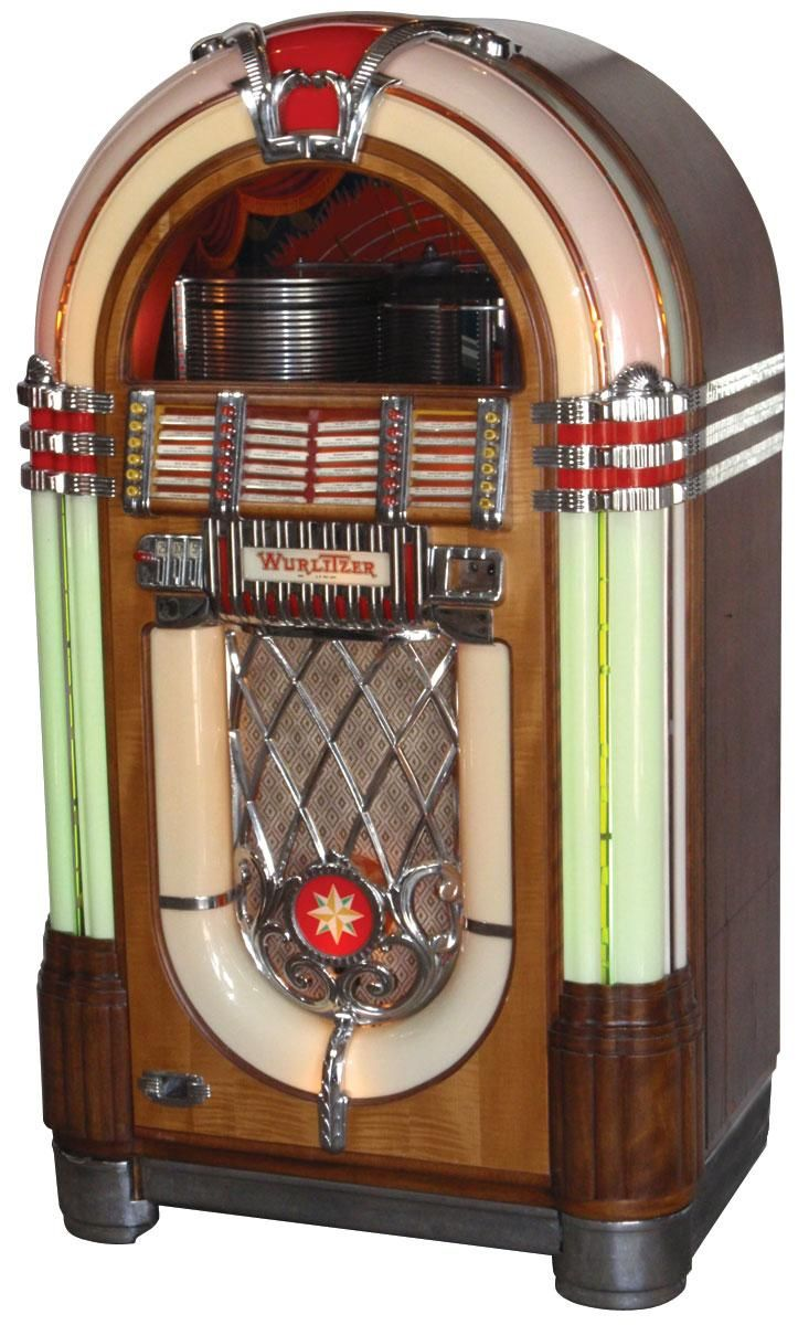 A fully functional classic jukebox (you can keep the iPod and its dock...)
