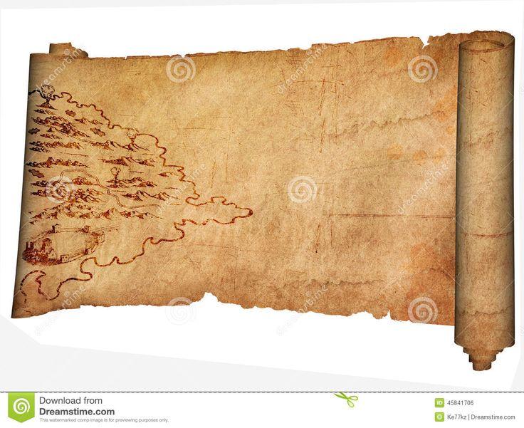 Pergamena Medievale E Mappa Antica Illustrazione di Stock ...