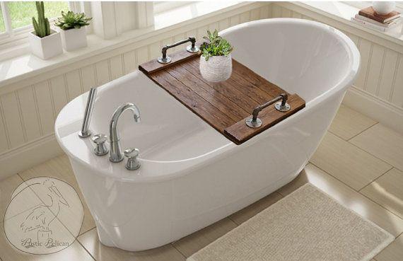 Rustic Bathtub Tray Wooden Tray Bath Tray IPad by RusticPelican