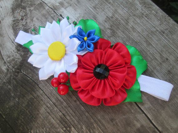 Bebé de cinta elástica de las niñas, recién nacida venda, banda para la cabeza, flor de la venda del bebé, venda, venda de la flor, flor kanzashi, flores de bebé del bebé