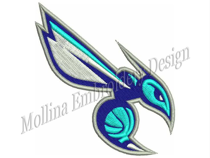 Charlotte Hornets Logo Machine Embroidery Design 4 Size by MollinaDesign on Etsy
