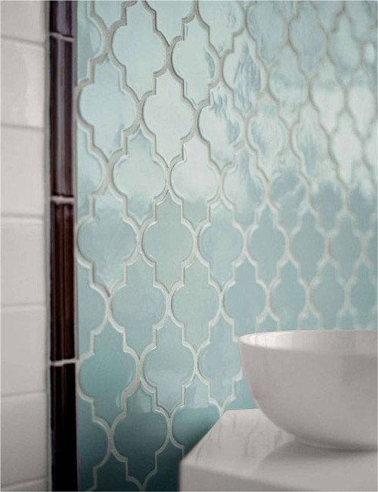 Duck egg blue Moroccan tiles