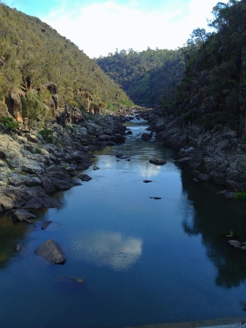 Cataract Gorge in Launceston - just a short 15min walk from the edge of downtown and a total escape .. peace, green, rugged and at various times a raging torrent as a watercourse into the River Tamar. It also has the longest single span chair lift in the world across a spot known as the basin.
