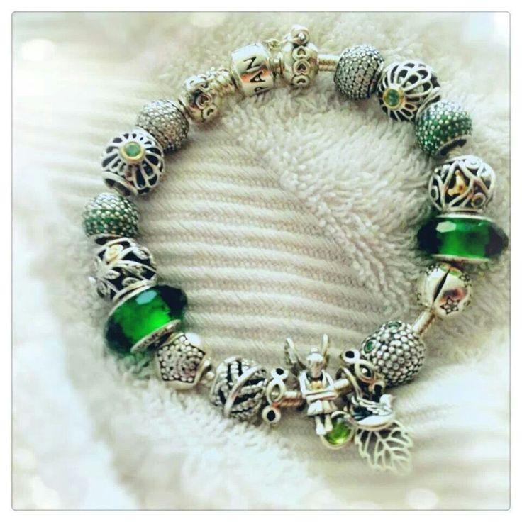 PANDORA Bracelet In Green Theme ♡