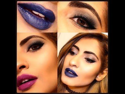Rhianna Inspired Makeup Video:Smokey Eye feat. 2 Lipsticks-Blue Valentin...