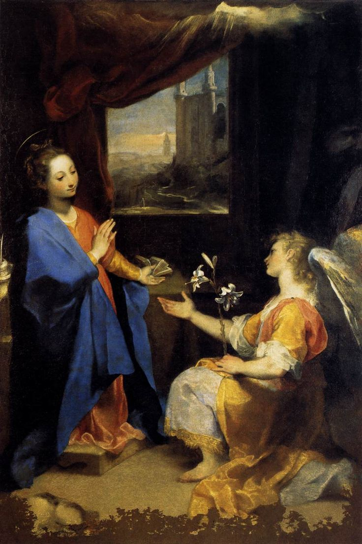 FEDERICO BAROCCI. Annunciation, 1582-84, oil on canvas.