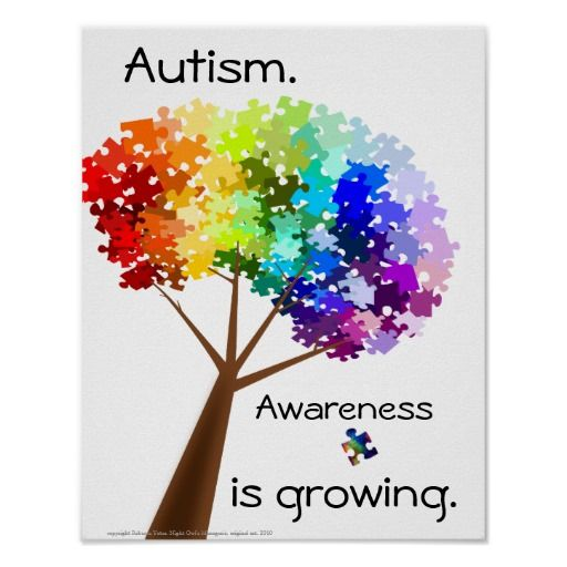 autism | Puzzle Tree Autism Awareness Poster