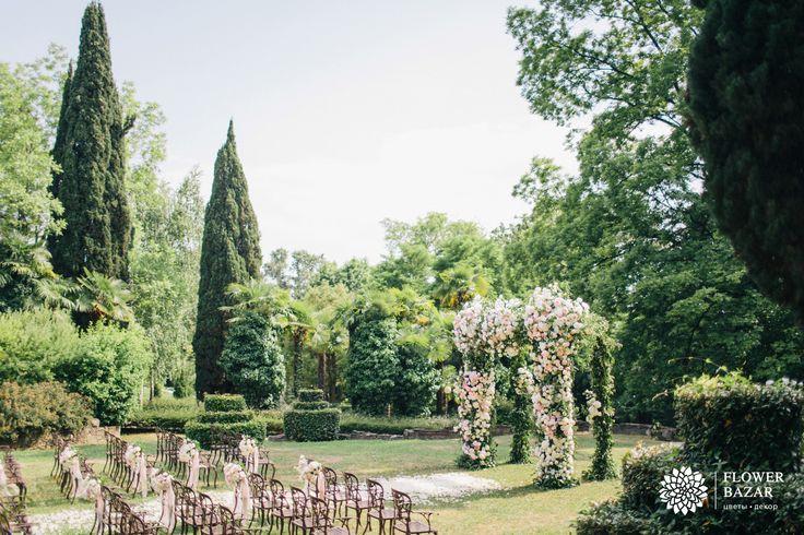 Свадебная церемония, свадебная арка, выездная церемония, свадебный декор, свадебный декор 2016, свадебные идеи, свадебные цветы, свадебные декорации, свадебные композиции, свадебный декор, садовая, английский сад, сочи, парк