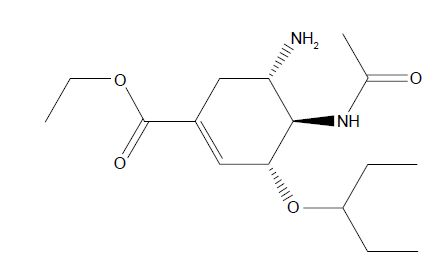 Figure 1 Structure of oseltamivir.