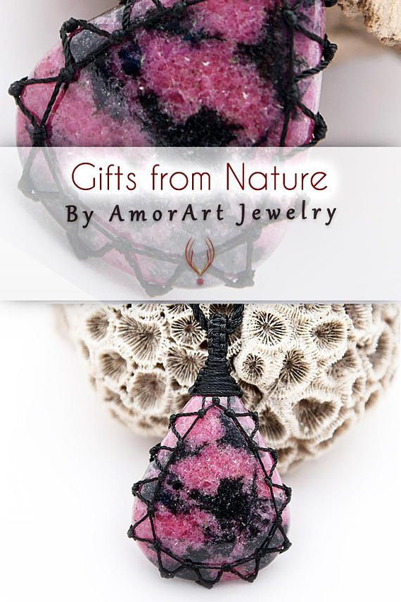 Hot pink jewelry, Large pendant, Natural stone jewelry, FREE SHIPPING, Rhodonite pendant necklace, Taurus star sign, Pink pendant necklace.  (¨•.¸´•.¸¸♥*•.¸(¨*•.♥(¨*FREE STANDARD SHIPPING*¨)♥.•*¨)¸.•*♥¸¸.•´¸.•*¨) ♥(¨*FOR ORDERS ABOVE 200 US$ AUTOMATIC 10 DAYS SHIPPING UPGRADE*¨)♥  Beautiful