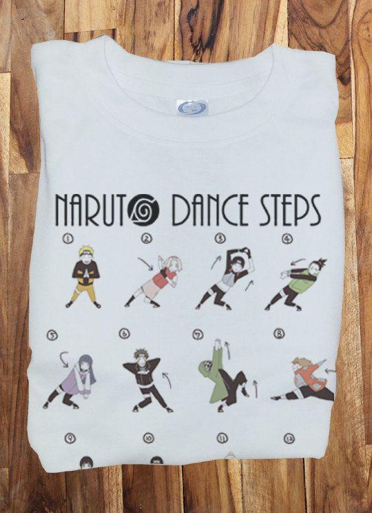 Custom Soft Premium Quality Naruto shippuden Opening Dance steps Funny Cosplay T-Shirt