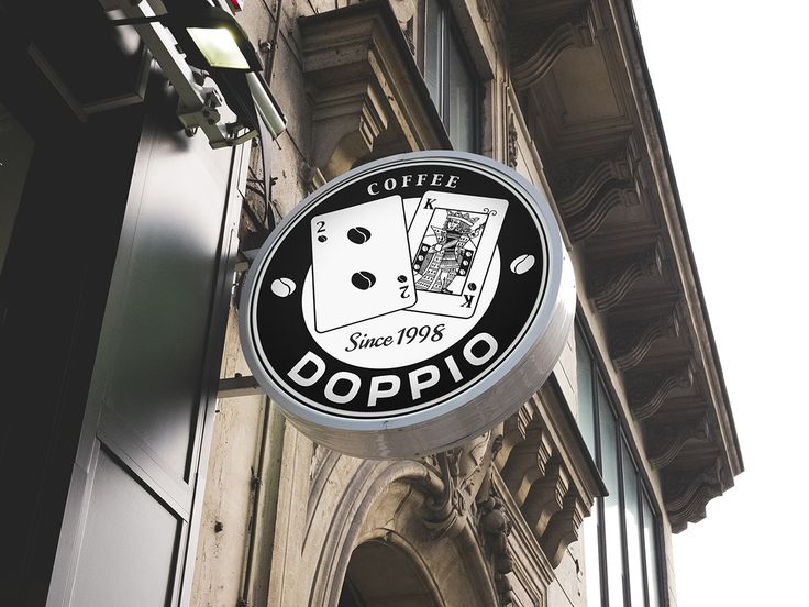 Doppio coffee shop logo Double Espresso on Behance