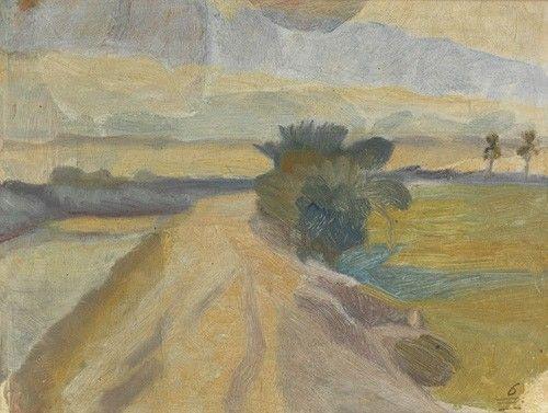 Ivan Aguéli - Vägen vid kanalstranden, c. 1914