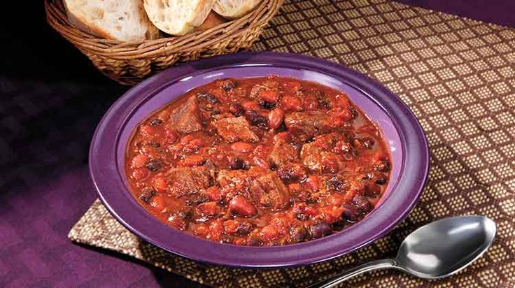 Arizona Dreaming Chili - Penzey's Spices. This is really very good. Crockpot or stove top.
